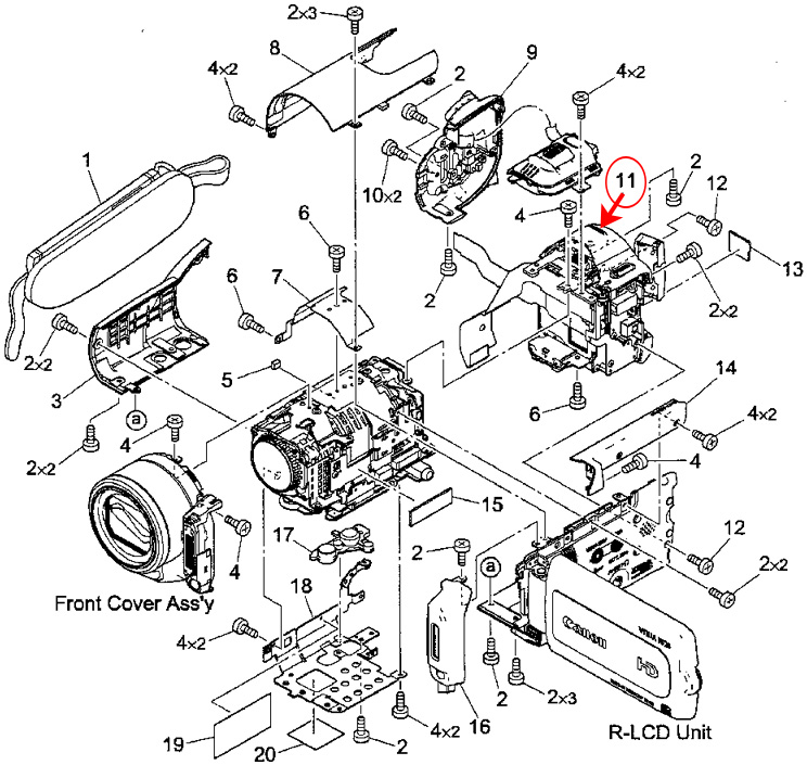 Canon Vixia Repair schematics